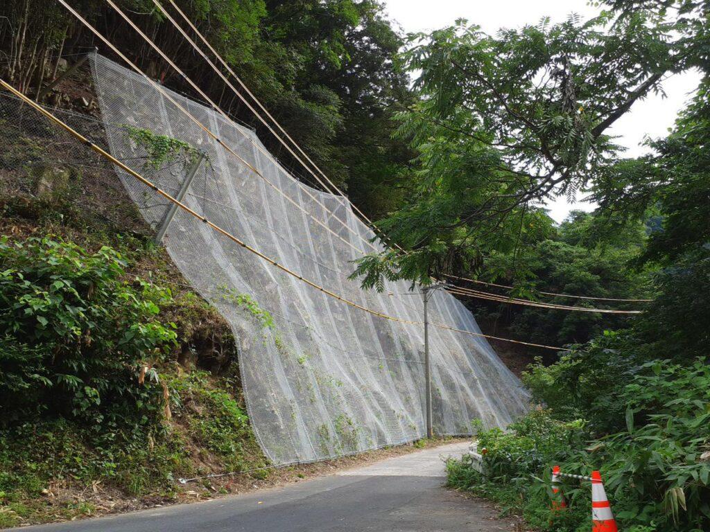 市道川井箱渕線落石対策工事写真
